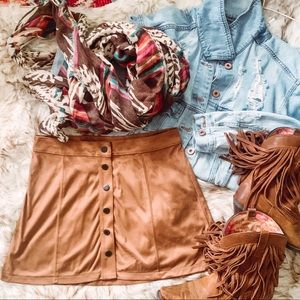 American Eagle Snap Front Mini Skirt